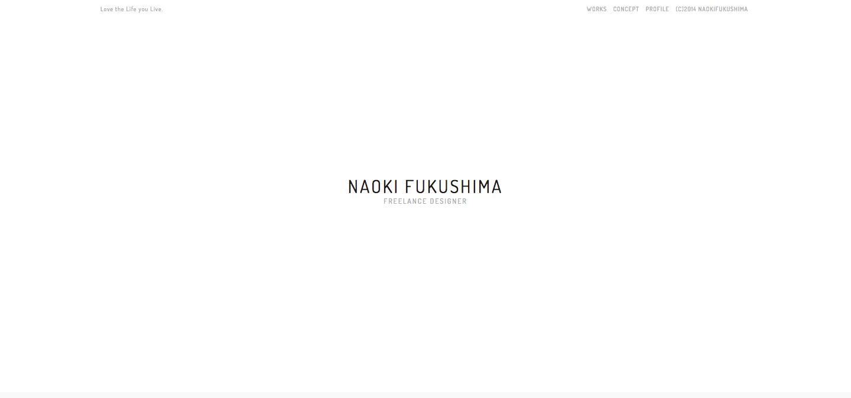 NAOKI FUKUSHIMAサイトのキャプチャ