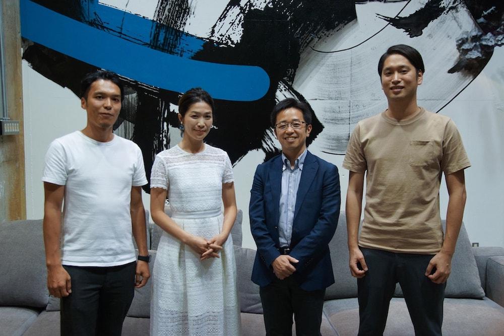 イベントの後のサーキュレーション大野、上村氏、渡邊氏、菅原氏