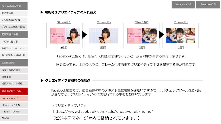 facebook広告は定期的なクリエイティブの入れ替えが必要