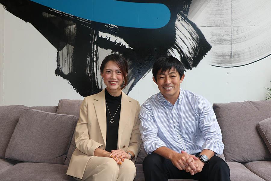左)株式会社サーキュレーション ソーシャルデベロップメント推進室 代表 信澤みなみ 右)SDGパートナーズ有限会社 代表取締役CEO 田瀬和夫氏